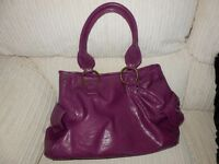 LARGE SUMMERY HANDBAG IN PURPLE AS NEW CONDITION