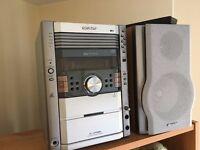 Sharp Hi-Fi Stereo XL-HP888 Audio Shelf System 5 Disc (XL-HP404)