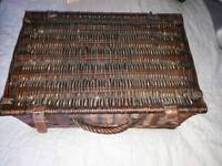 stunning vintage Wicker Picnic Basket perfect for the classic car