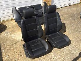 BMW E36 Touring Interior Black Leather Sport Seats