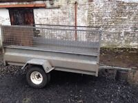 7x4 Galvanised Trailer with greedy mesh sides £650ono