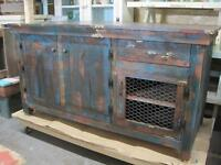 RUSTIC, SOLID PINE STORAGE OR ENTERTAINMENT CABINET