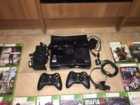 XBOX 360 with Kinect, 500GB, two wireless controllers, 47 games