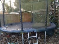 Jumpking Oval JumpPOD Trampoline (10ft x 15ft) needs new net
