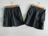 Boys M&S 4-5 years 2 pairs of Grey School Cargo Pull on Shorts