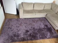 Large Purple/Mauvre Shaggy Rug
