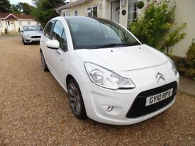 Citroen C3 Exclusive - White 2010 Manual -LOW Milage-One Lady Owner - All Leather Seats