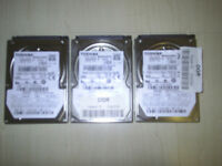 3 x 80GB LAPTOP HARD DRIVES fully tested and working