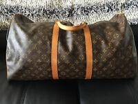 Louis Vuitton KEEPALL BANDOULIÈRE 55 Duffle Bag