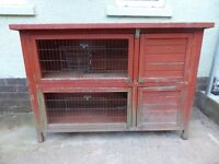 Large Double Rabbit Hutch 4.5ft Long Can Be Separated To 2 Hutches