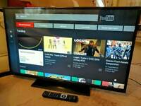 """HITACHI 50"""" Slim LED FULL HD SMART TV. BUILT IN WiFi FREEVIEW HD, HDMI NEW CONDITION FULLY WORKING"""