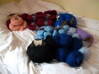 knitting wool Quality-mohair -assorted large bundle -REDUCED for quick sale