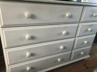 Solid cream pine 8 draw chest of draws