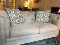 sofa - two-seater + two cushions - excellent condition
