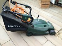 HAYTER ENVOY 36 ELECTRIC PUSH MOWER. GRASS LAWNMOWER