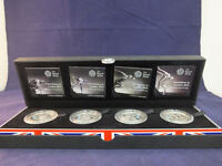 ROYAL MINT Countdown to London 2012 OLYMPIC 4 £5 Sterling Silver Proof coin set