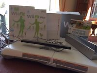 Nintendo Wii with balance board.No controllers or nunchuks.Wii fit game included.