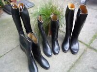 Riding boots in rubber