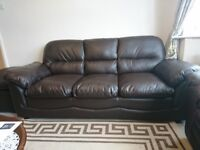 4 Piece Sofa Set 3 seat 2 seat arm chair and foot stool