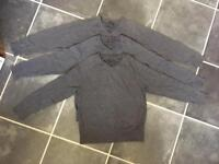 X3 boys 7-8 years grey v-neck school jumpers from Next