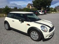 MINI ONE 1.4 WHITE 2009 FSH 7 STAMPS 74k MILES MOT MAY 2019 2 KEYS LOW INSURANCE PX WELCOME