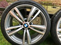 BMW 19 INCH 442 M STYLE ALLOYS / ALLOY WHEELS - FERRIC GREY/POLISHED - SUIT F30 / E90 3 OR 4 SERIES