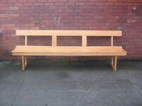Solid Oak pews. 6ft and 8ft in lenght.