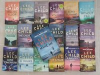 Lee Child Thrillers (a complete set of 19 books). All are numbered and are in very good condition.