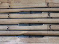 Fox Rangemaster II carp rods, 2.75 t/c