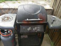 Gas bbq & gas tank & cover