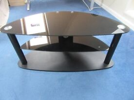 Dark Glass TV and Console Stand