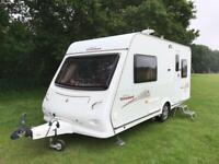 Elddis caravan with motormover and awning