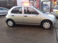 NISSAN MICRA 2003 RARE 5 DR 11 MONTHS MOT ONLY 80000 MILES 55 MPG LOW INSURANCE EASY TO DRIVE 775 !