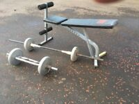 Weights bench & weights
