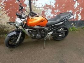 Yamaha fz6-naked Heated grips 600cc Fast bike. 25k miles. Datatag.