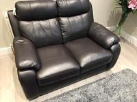 2x2 seater leather sofas