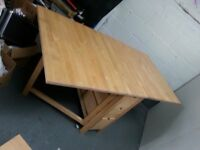 Drop Leaf Table with Drawer Storage