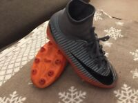 Football Nike CR 7 sock boots size 2