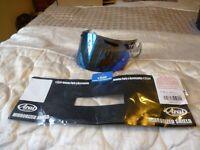 Genuine Arai Blue Iridium visor Axces, Condor, Chaser, Viper & GT, Astro, RX7-Corsair, Quantum