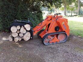 2017 Taian MS500 Skid Steer Mini Loader Telehandler - Log grab, muck grab, pallet tines & bucket