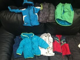 Selection of boys coats and body warmers
