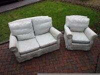 2 seater sofa and armchair to match for sale