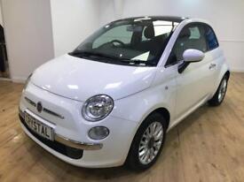 FIAT 500 1.2 LOUNGE 3d 69 BHP 6 MONTHS WARRANTY (white) 2014