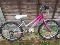 "RALEIGH 'KRUSH' GIRLS 20"" 6 SPEED MOUNTAIN BIKE"
