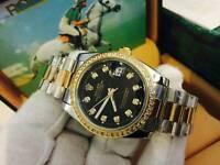 New Swiss Rolex Oyster Datejust Perpetual Automatic Watch, diamond bezel