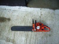 "Tanaka ECV-4501 chainsaw with 18"" cutting chain"