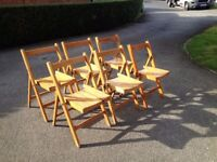 Six Vintage Folding Chairs