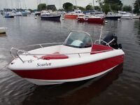 Armplast GRP 425 Sprint with Evinrude 40hp ELPT Big Foot and New Roller Trailer