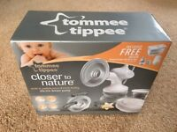 Tommee Tippee Breast Pump Brand New with steriliser box and accessories