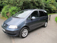 2005 (05) Volkswagen Sharan 1.9 TDI PD SE 5dr 7-Seater MPV. *LOW MILES* BUILT-IN CHILD SEATS*